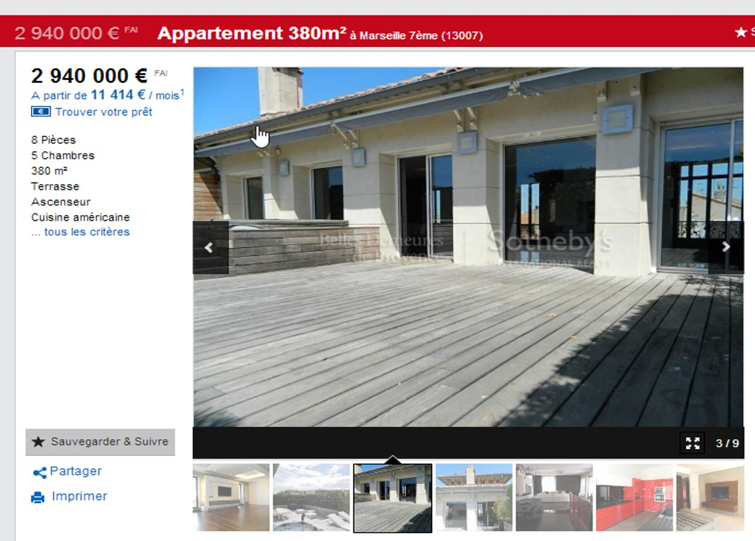 achat appartements de prestige 13007 marseille