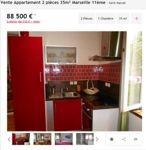 Vente appartement 2 pièces Marseille 11ème appartement F2 T2 2 pièces 35m² 88500€