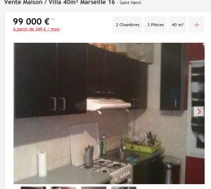 Vente maison 3 pièces Marseille 16ème maison Maison de village F3 T3 3 pièces 40m² 99000€