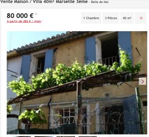Vente maison 3 pièces Marseille 3ème maison Maison de ville F3 T3 3 pièces 40m² 80000€